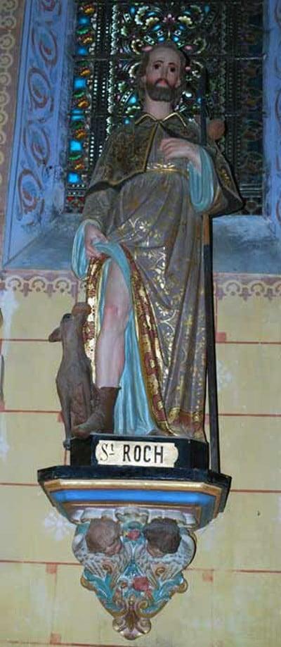 Saint Roch dans l'église de Rennes-le-Château - © Johan Netchacovitch