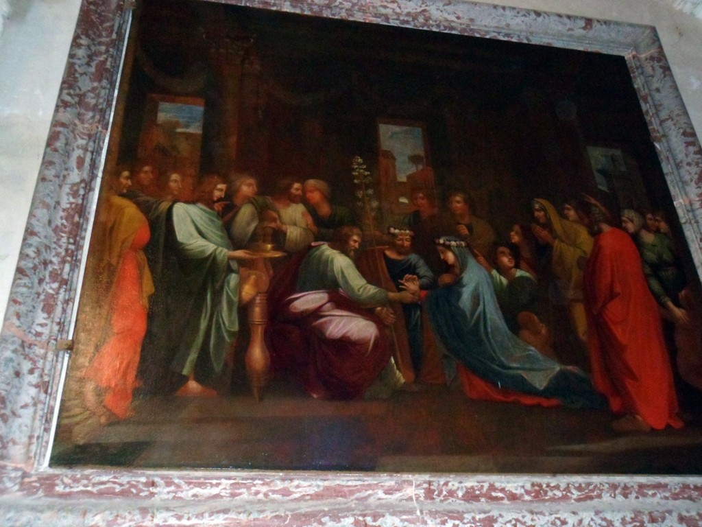"""Reproduction du """"Mariage de la Vierge"""" à Notre-Dame du Cros - J-M Villette ©"""
