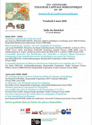 News : Conférences Wsigoths. Rois de Toulouse