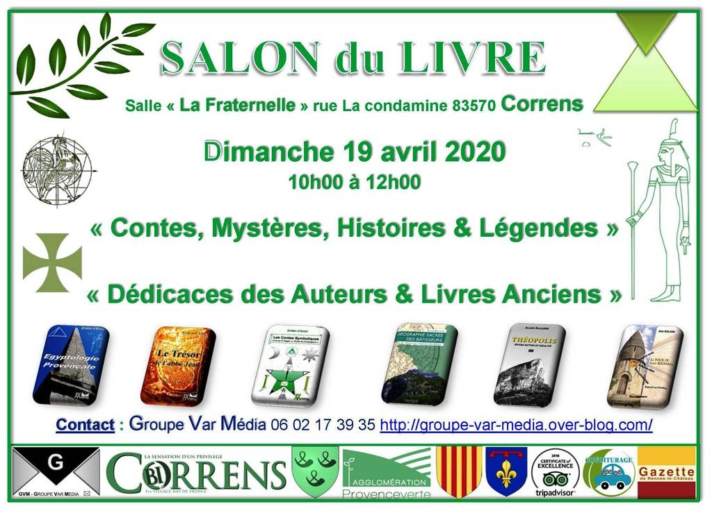Salon du livre à Correns le 19 avril 2020