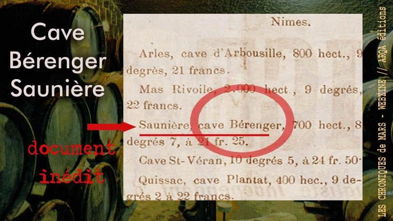 Bérenger Saunière aurait été propriétaire de parcelles de vin.