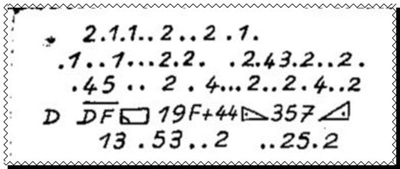 Le cryptogramme de L'aiguille creuse de Lupin et Leblanc
