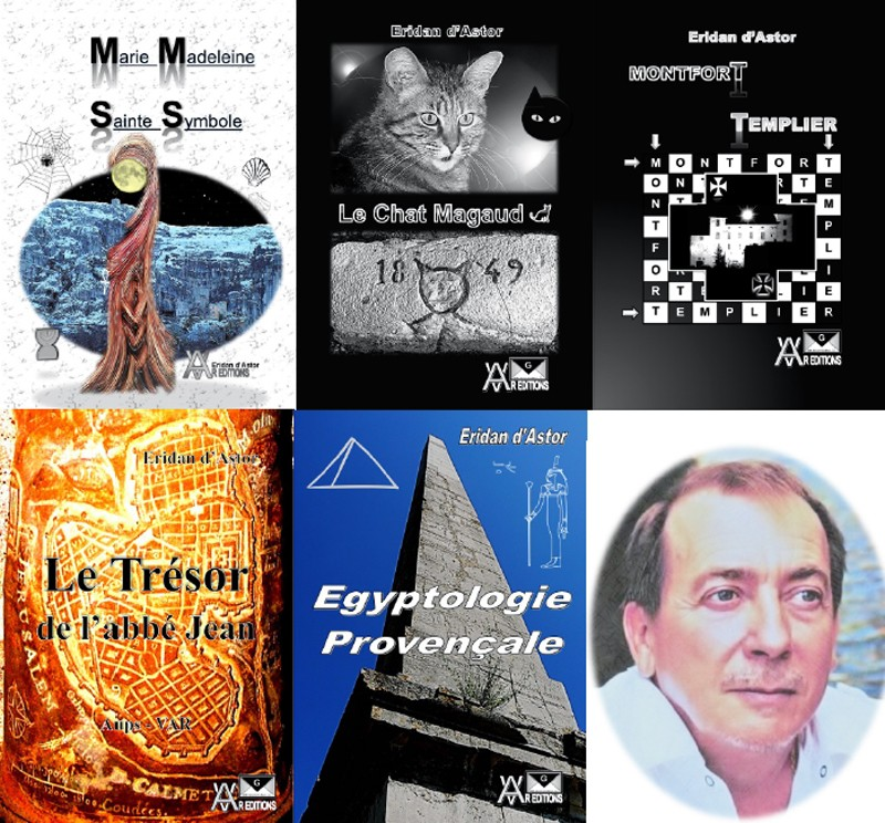Eridan d'Astor a rédigé des ouvrages sur Marie Madeleine, Le Var Egyptien, les Templiers