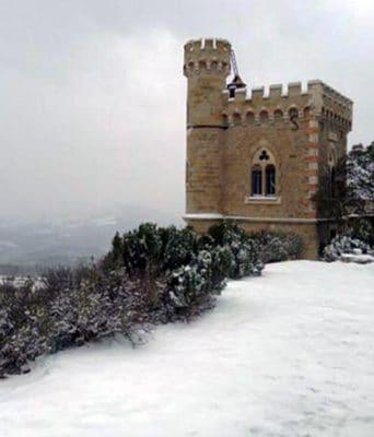 News : La tour Magdala de Rennes-le-Château sous la neige