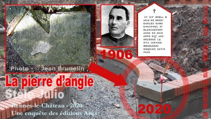 La pierre d'angle du jardin du calvaire... disparue...