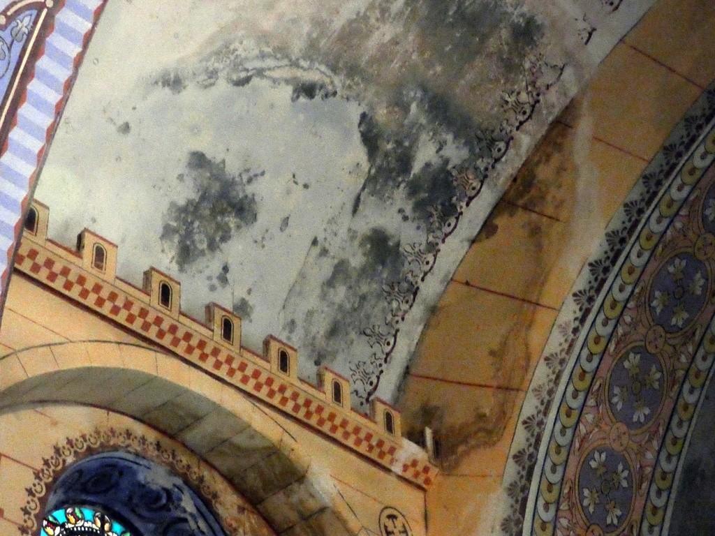 Plafond de l'église de Rennes-le-Château