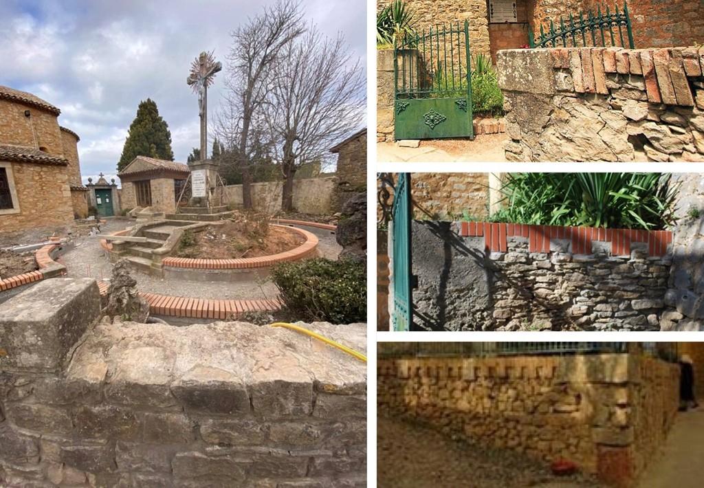 Les travaux du jardin du calvaire à Rennes-le-Château