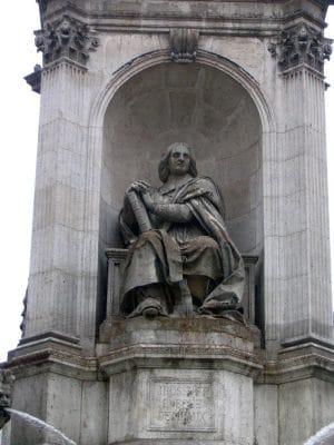 Bossuet, l'évêque de Meaux sur la fontaine Saint Sulpice