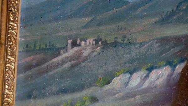 Le village de Rennes-le-Château vu de la grotte Marie-Madeleine