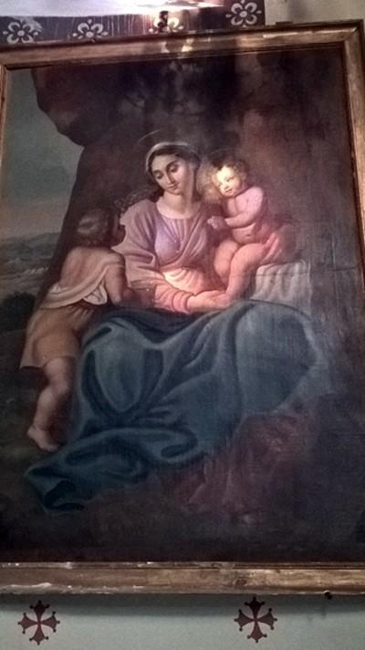 Eglise de Campagne-sur-Aude avec son tableau à la grotte Marie-Madeleine