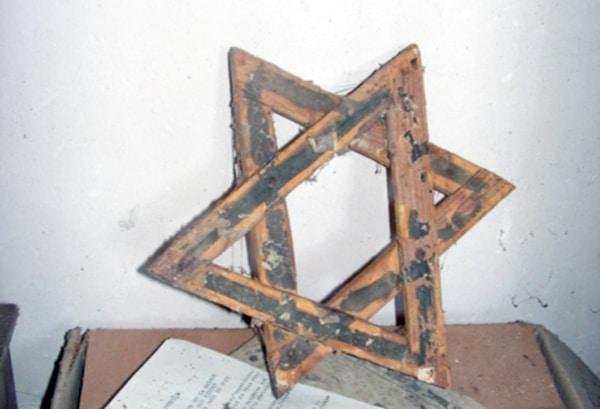 Sceau de Salomon dans l'église de Coustaussa