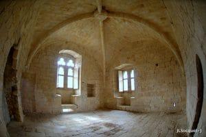 Intérieur du château d'Arques