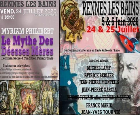 Le Secret du Triangle audois conférences de Patrick Berlier, Franck Marie, Jean-Pierre-Garcia, Myriam Philibert, Michel Lamy.