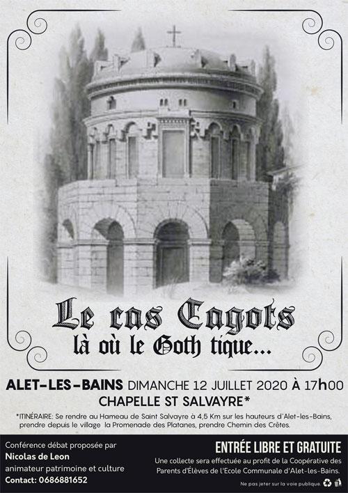 Le cas Cagots là où le Goth tique conférence de Nicolas de Leon à Saint-Salvayre hameau d'Alet-les-Bains