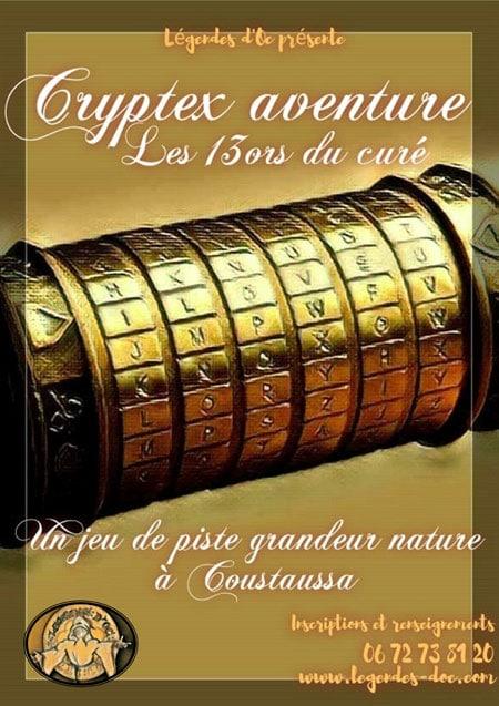 Cryptex aventure Les 13ors du curé à Coustaussa
