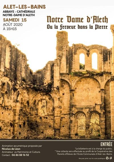 News : conférence de Nicolas de Léon sur Notre Dame d'Aleth ou la ferveur dans la pierre
