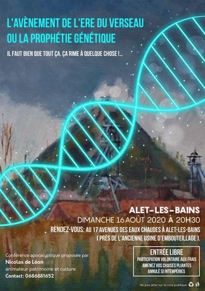 News : conférence de Nicolas de Léon sur L'avènement de l'ère du Verseau ou la prophétie génétique