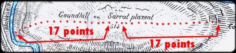 Extrait carte de la Vraie Langue Celtique qui dévoile la piste de Lupin et Rennes-le-Château - Photo Thierry Espalion