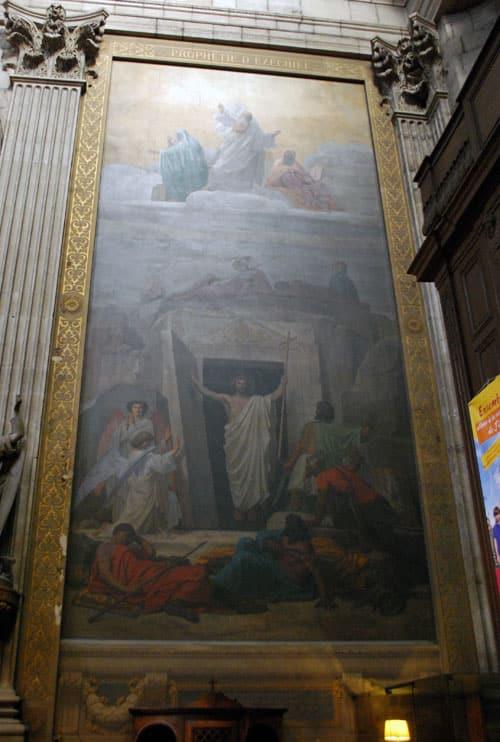 """La résurrection d'Emile Signol à Saint Sulpice de Paris avec la signature comportant un """"N"""" inversé"""