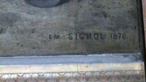 Prieuré de Sion : Signature d'Emile Signol avec un n inversé