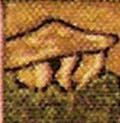 Dolmen sur la colline au-dessus de Rennes-les-Bains dans le tableau de Pierre Plantard