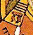 Dolmen stylisé ou lettre π sur l'épaule du pape de l'arcane du tarot dans le tableau de Pierre Plantard explique le titre secret de la VLC