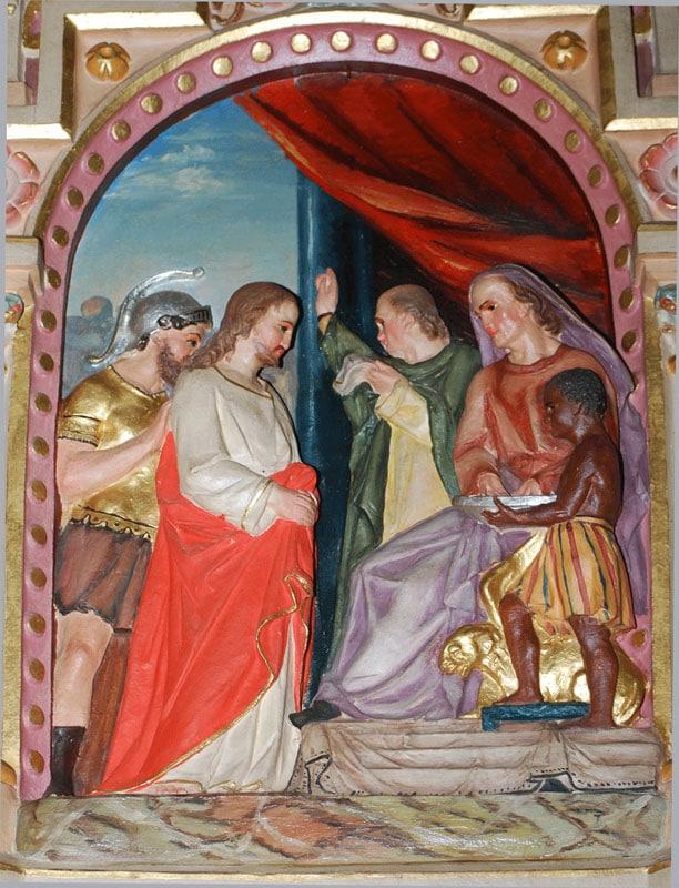 News : station 1 du chemin de croix de l'église de Rennes-le-Château en lien avec le Serpent Rouge et Blanchefort