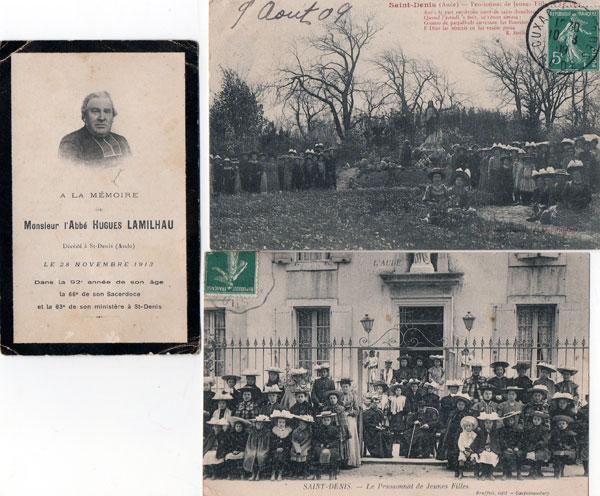 Florence Cazebon - Taveau dévoile un abbé, ami de Bérenger Saunière, l'abbé Lamilhau et son pensionnat de jeunes filles  à Saint-Denis (Aude)