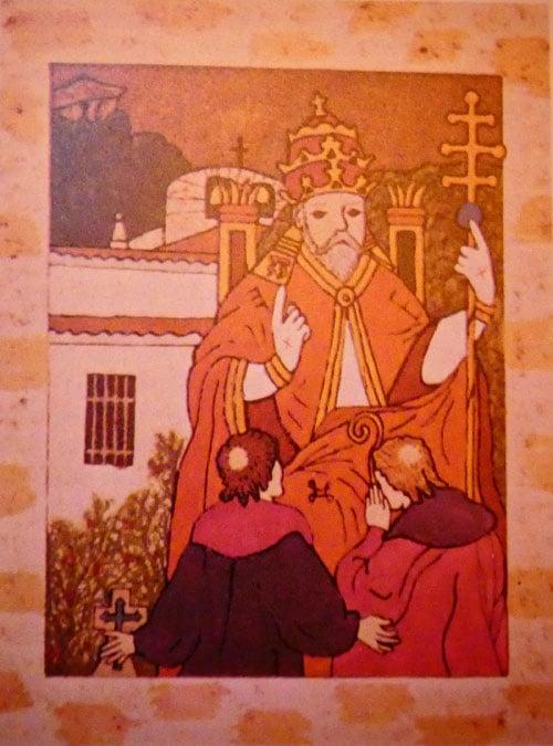 """Le tableau qui explique le titre secret représente vraisemblablement l'arcane du tarot dite """"le pape, page 37 de """"Rennes-le-Château capitale secrète de l'histoire de France"""" de Jean-Pierre Deloux et Jacques Brétigny"""