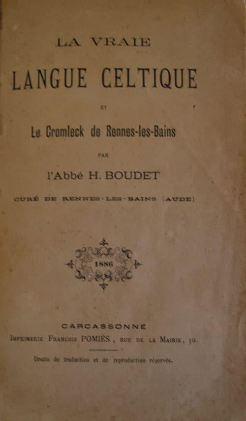 Le titre secret de La vraie langue celtique et le cromleck de Rennes-les-Bains