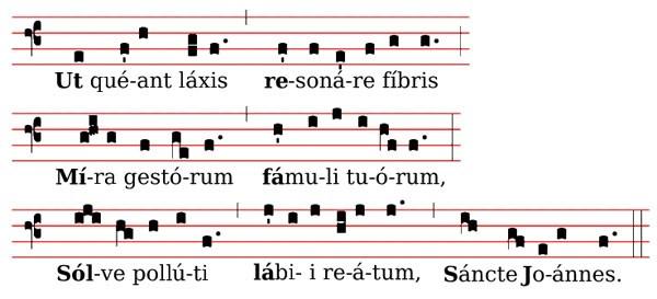 Le chiffre neuf de la notation musicale de Gui d'Arezzo