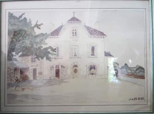 La maison d'enfance d'Aguste Coudray d'après Jean Dantier, vicaire et instituteur de Lizio