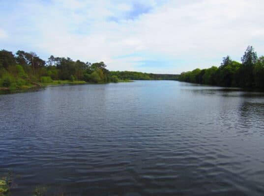Le lac de la fée Viviane à Concoret à côté du château de Comper