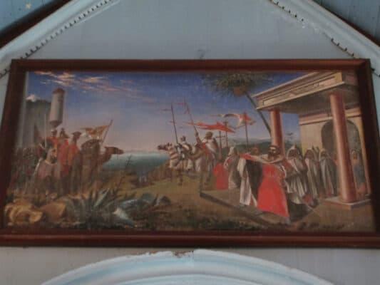 """Les """"moines rouges"""" dans la chapelle Sainte-Catherine de Lizio - Hemeac ©"""