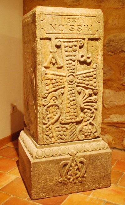 News : Pilier wisigoth dans le musée de RLC