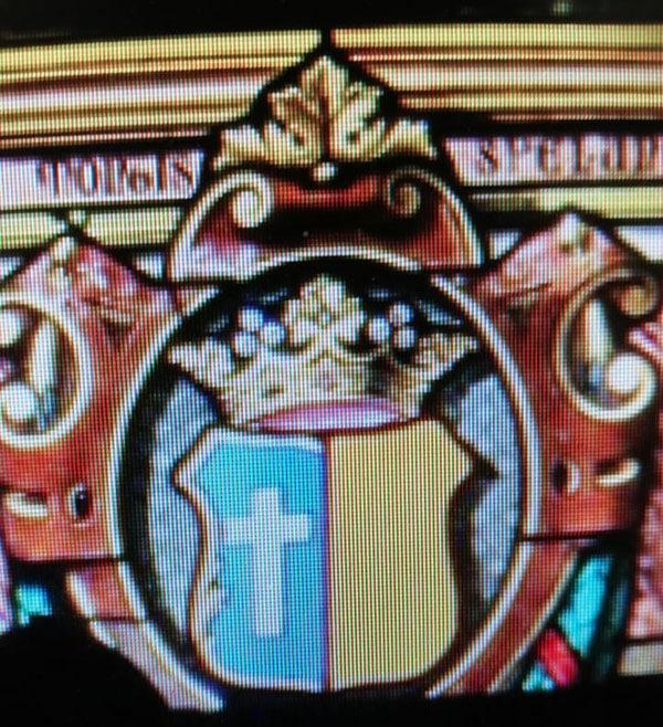 Le blason du marquis sur le vitrail de Saint Eustache