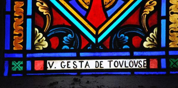 Le nom du verrier toulousain Louis-Victor Gesta