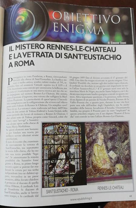 Le mystère de Rennes-le-Château et le vitrail de Saint Eustache