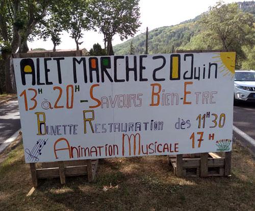 News : Marché des saveurs à Alet (Aude) le dimanche 20 juin 2021