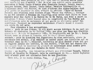 Lettre de Philippe de Chérisey à Pierre Plantard