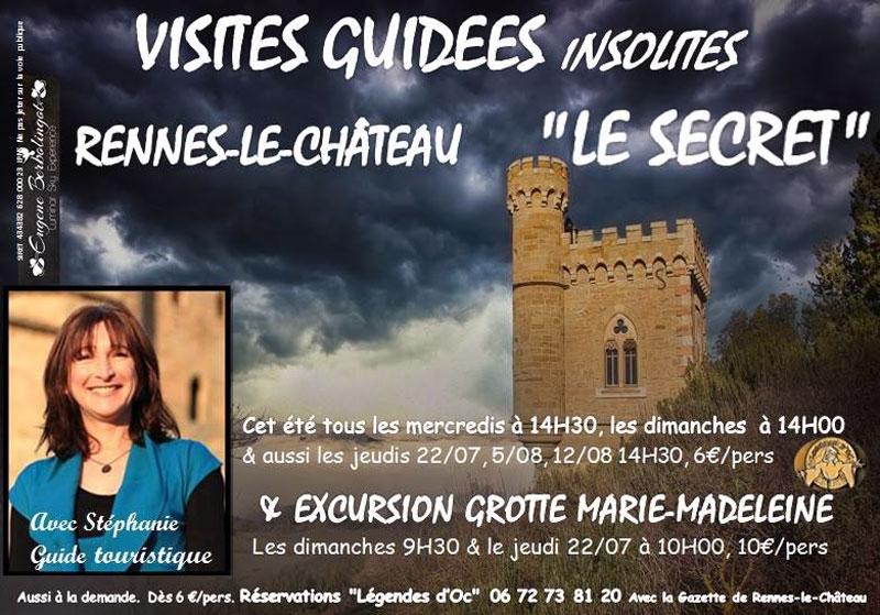 Visites guidées de Stéphanie Buttegeg à Rennes-le-Château et à la grotte Marie-Madeleine