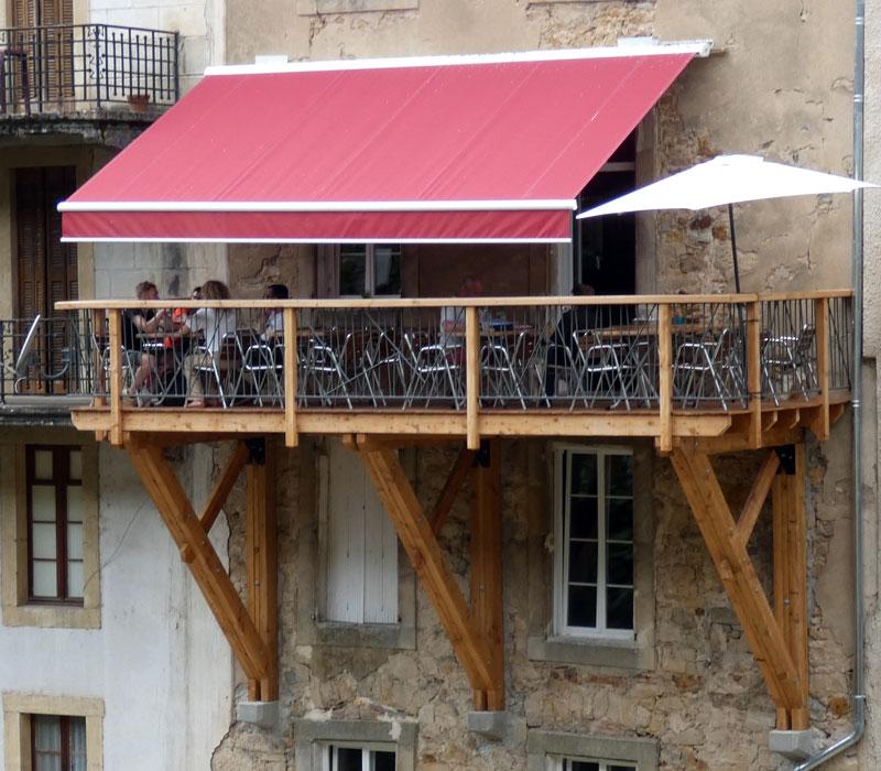 Terrasse du Therminus à Rennes-les-Bains