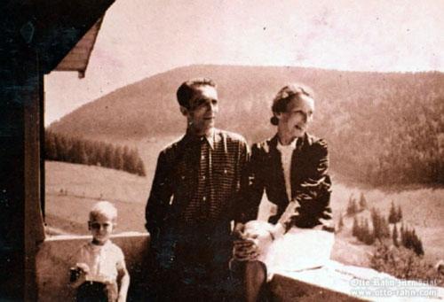 Otto Rahn et sa compagne durant l'été 1938